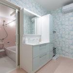 広く取った洗面所 3帖の広さがあります